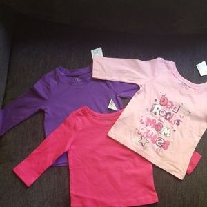 Bundle of 3 NWT The Childrens Place LS Tees-6/9mos